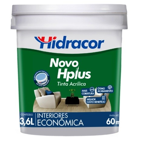 Tinta Acrílica Hplus Fosca 36 Branco Neve Hidracor