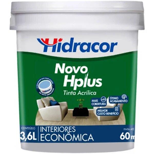 Tinta Acrílica Hplus Fosca 3,6 Litros Marfim Hidracor