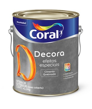Tinta Decora Efeito Cimento Queimado 3,0 Litros Coral