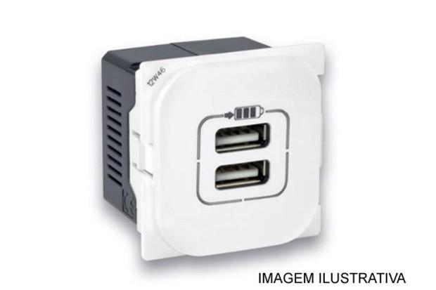 Tomada Carregador USB Dupla Nereya 663011 Pial