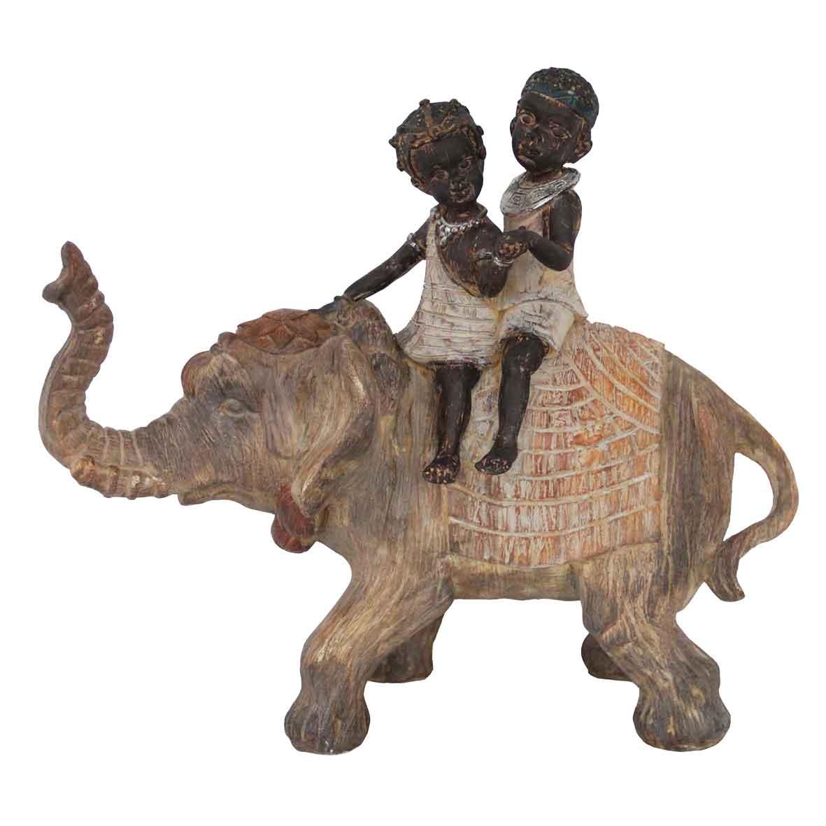 Adorno Elefante e Crianças