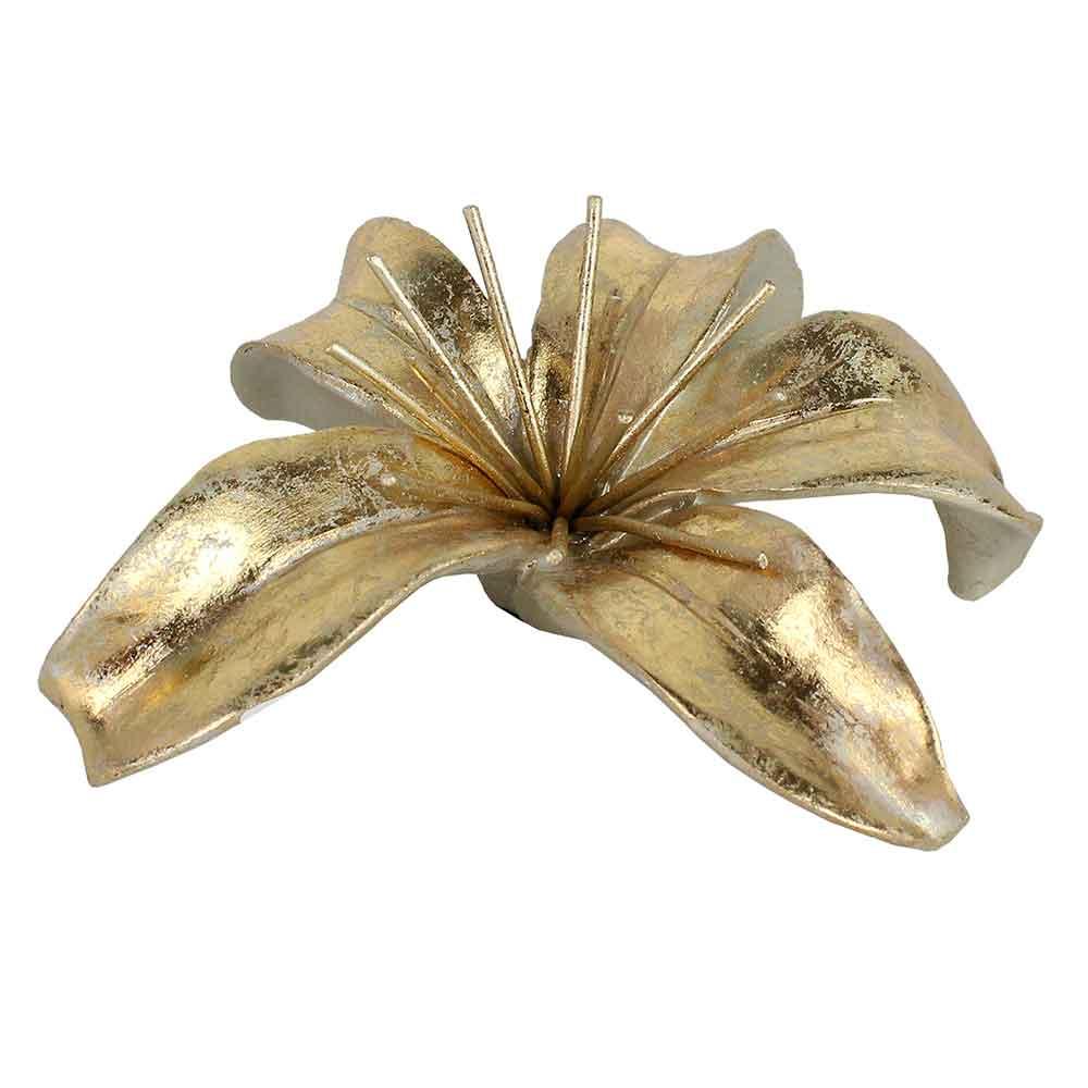 Adorno Flor Dourada Pequena