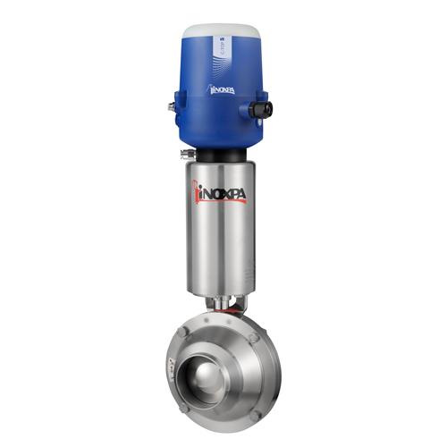 Válvula Borboleta Pneumática Inox - Solda - 304L - EPDM - C/ C-TOP-S 24VDC