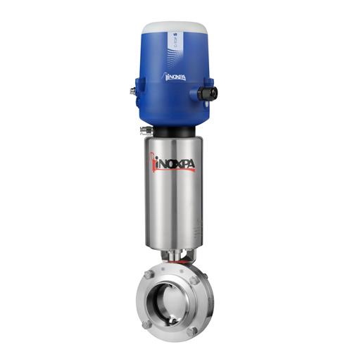 Válvula Borboleta Pneumática Inox - Solda - 304L - EPDM - C/ C-TOP-S AS-I