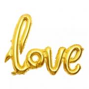 BALÃO LOVE 108X65 DOURADO 8566