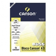 BLOCO DESENHO CANSON 20F A3 180G BCO