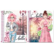 CADERNO CD BELLA 1X1 96F 0804003