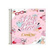 CADERNO CAPA DURA CAPRICHO 1X1 80 FOLHAS 308455