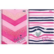 CADERNO CD PINK POWER 15X1 300F 6293