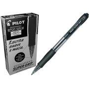 CANETA PILOT S GR 1.0 BPGP-10R-M PRETA 12 UNIDADES