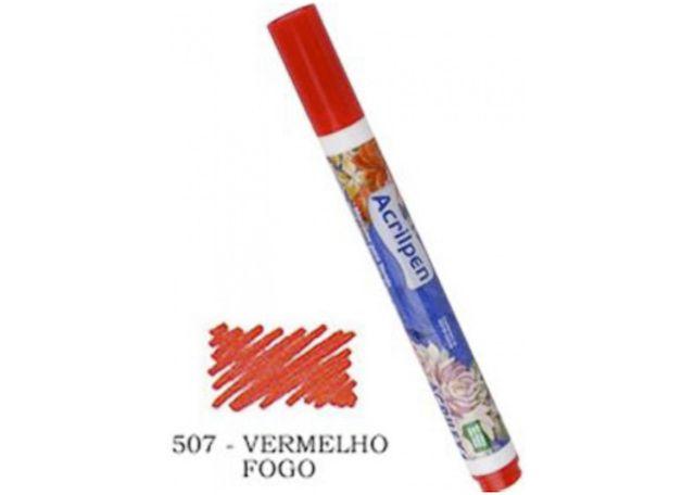 ACRILPEN ACRILEX 4406 507 VERMELHO