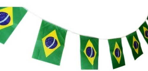 BANDEIROLA SOU BRASIL 10METROS 8 BANDEIRAS JS2568