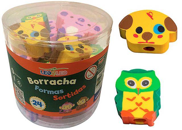 BORRACHA LEO&LEO FORMA SORTIDA 24 PEÇAS 4345