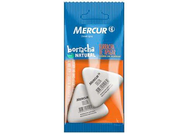 BORRACHA MERCUR DELTA 2 PEÇAS BRANCA