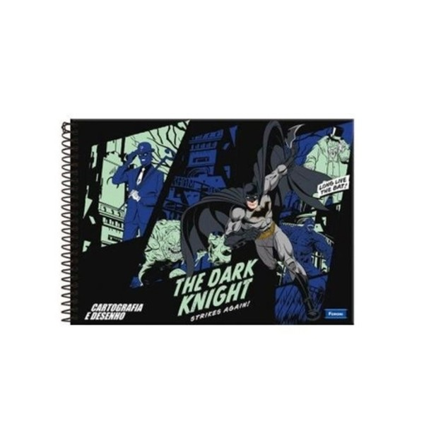CADERNO CARTOG CD BATMAN 96F 8671