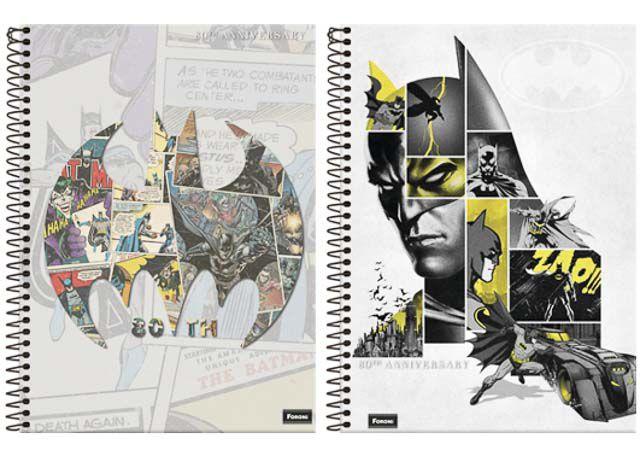 CADERNO CD BATMAN TEEN 10X1 200F 6041