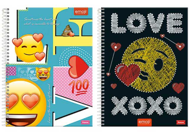 CADERNO CD EMOJI LOVE 15X1 300F 6372 (NC)