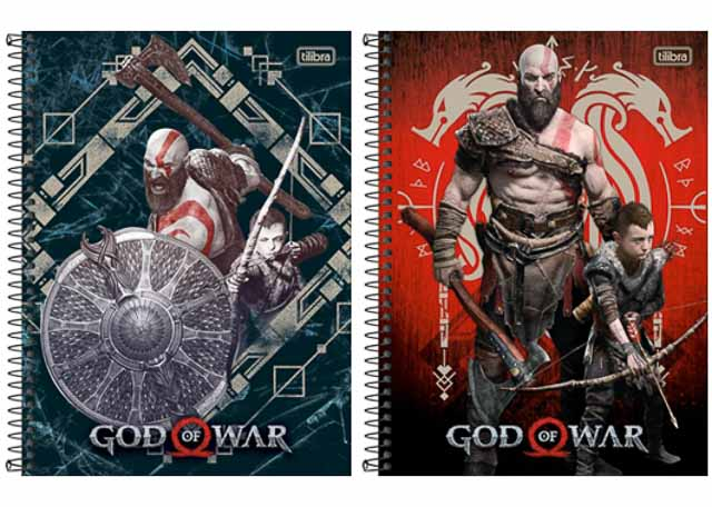 CADERNO CD GOD OF WAR 16X1 256F 308358