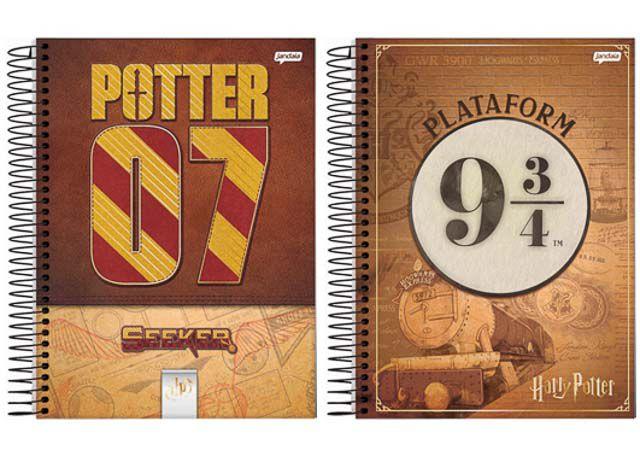CADERNO CAPA DURA HARRY POTTER 1X1 80 FOLHAS 66974