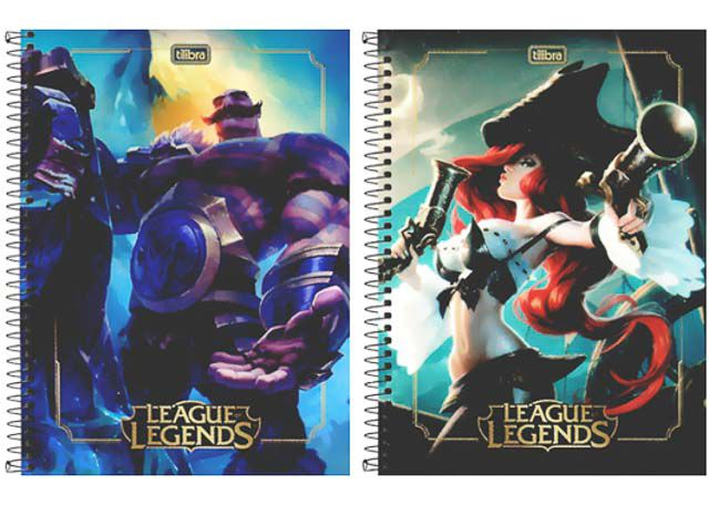 CADERNO CAPA DURA LEAGUE OF LEGENDS 10X1 160 FOLHAS 309982