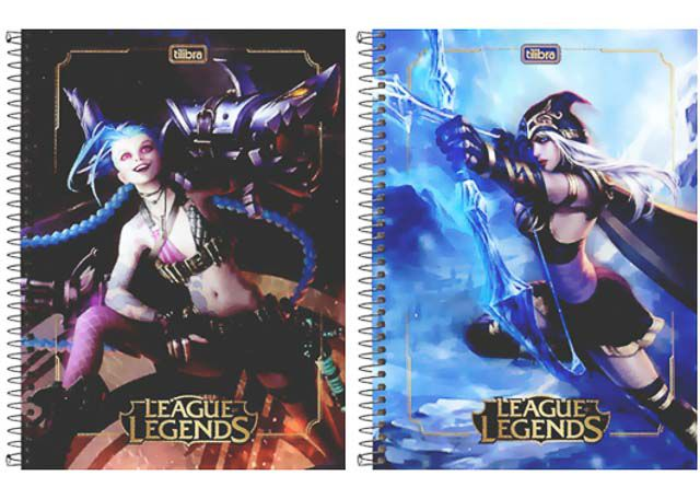 CADERNO CD LEAGUE OF LEG 1X1 80F 309460