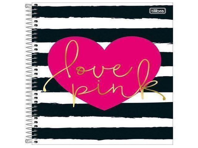 CADERNO CAPA DURA LOVE PINK 16X1 320 FOLHAS 154415