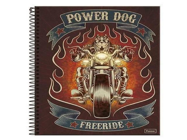 CADERNO CAPA DURA POWER DOG 15X1 300 FOLHAS 8153