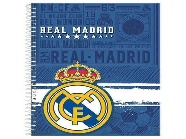 CADERNO CD REAL MADRID 10X1 200F 6101