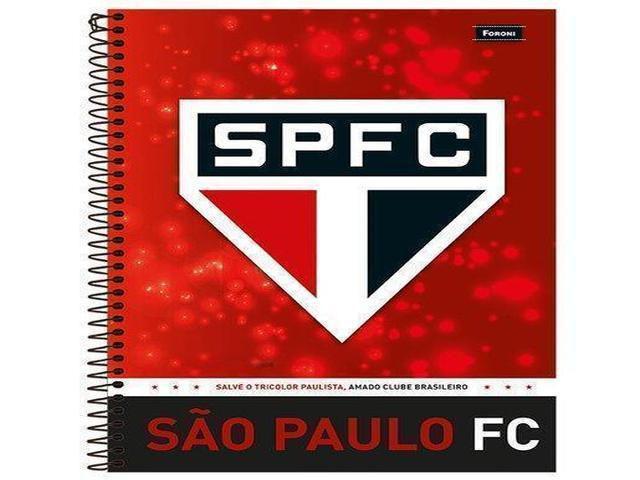 CADERNO CAPA DURA SÃO PAULO 10X1 200 FOLHAS 8861