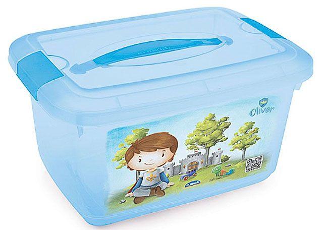 CAIXA PLASUTIL BOX INFANTIL COM ALÇA 5,2L PRINCESA 7050