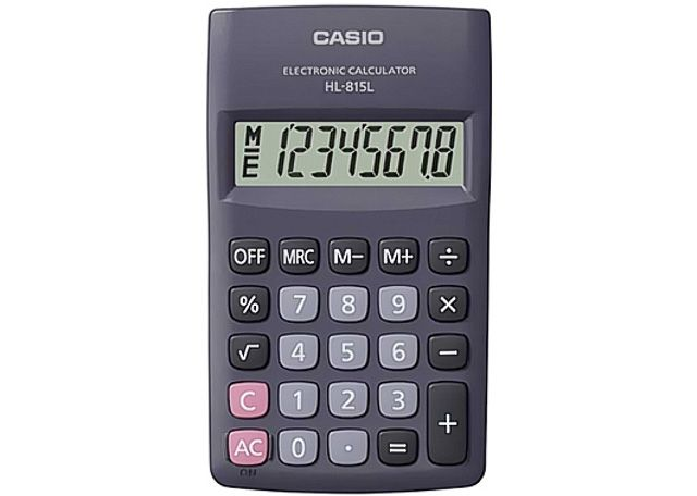 CALCULADORA CASIO PORT HL-815L-BK-W