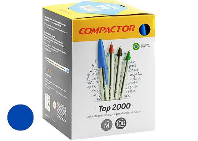 CANETA COMPACTOR  TOP 2000 100 PEÇAS AZUL 852001
