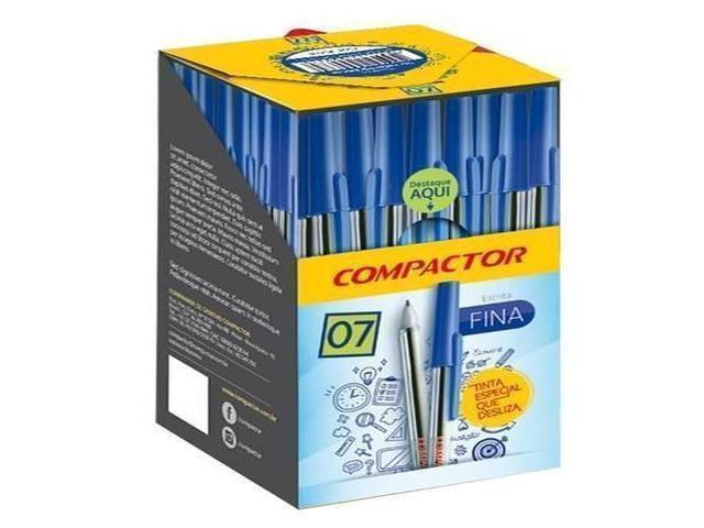 CANETA COMPACTOR 07 50 PEÇAS AZUL 11001