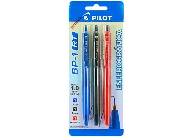 CANETA PILOT BP-01RT 1.0 3 PEÇAS 0999