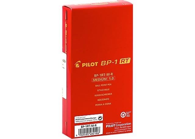 CANETA PILOT BP-1RT-M 12 PEÇAS VERMELHA 2410046