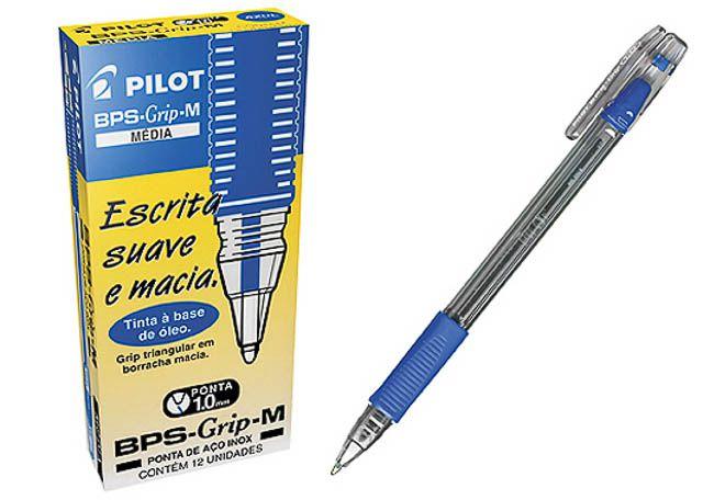 CANETA PILOT BPS GRIP M 1.0 AZ 203
