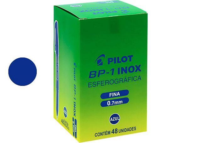 CANETA PILOT INOX 0.7 FINA 48P AZ