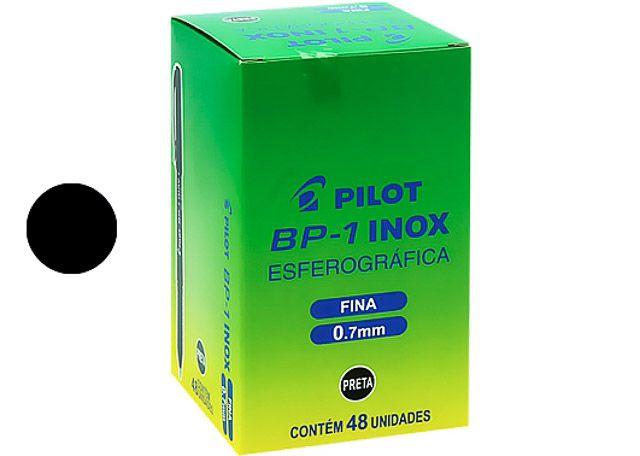 CANETA PILOT INOX 0.7 FINA 48 PEÇAS PRETA (NC)