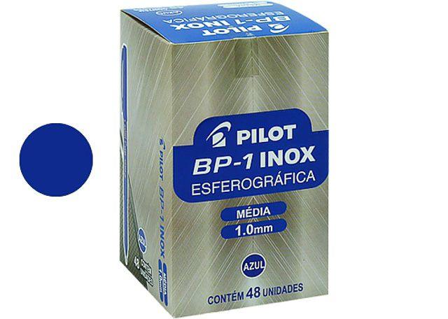 CANETA PILOT INOX 1.0 48 PEÇAS AZUL (NC)