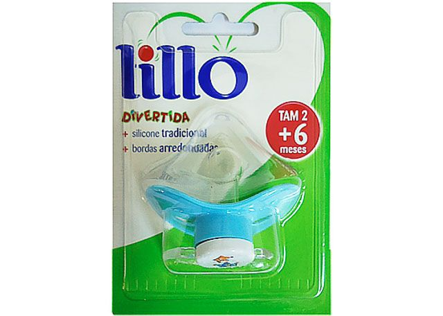 CHUPETA LILLO ORTO SILICONE T2 AZUL 614720