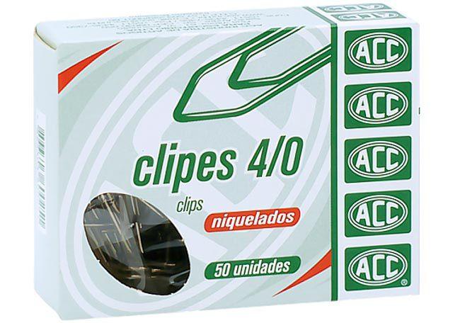 CLIPS NIQUELADO ACC 4/0 50 PEÇAS