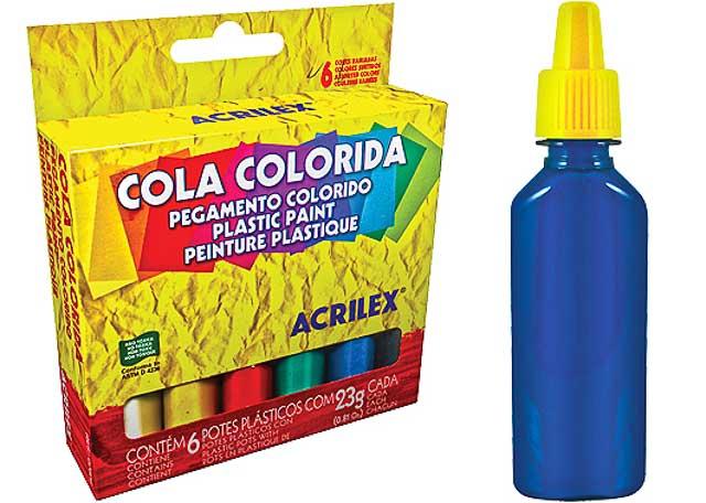 COLA COLOR ACRILEX 23G 6 PEÇAS 2606