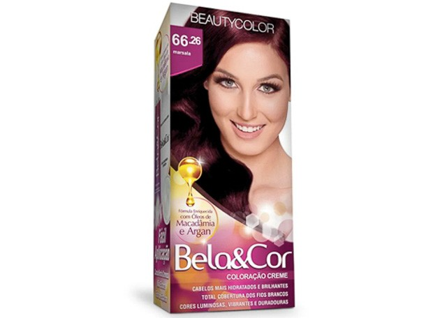 COLORACAO CR BEAUTY. 66.26 MARSALA