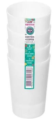 CONJUNTO DE COPOS SANREMO 0,27L 4 PEÇAS TRANSPARENTE 787/2C