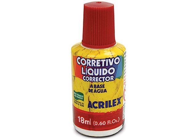 CORRETIVO LIQ ACRILEX 6P 18ML 01518
