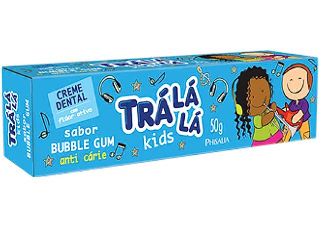 CREME DENTAL 50G TRÁ LA LA KIDS BUBBLE GUM