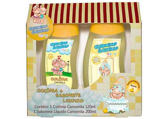DEO COLÔNIA + SABONETE LÍQUIO CHARMINHO & CARINHO CAMOMILA 7303