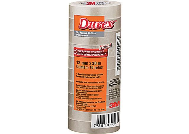 DUREX 3M TRANSPARENTE 12X30 10 PEÇAS 292 HB74262