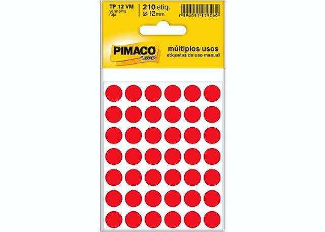 ETIQUETA PIMACO MULTIP TP-12 5F VM 886601