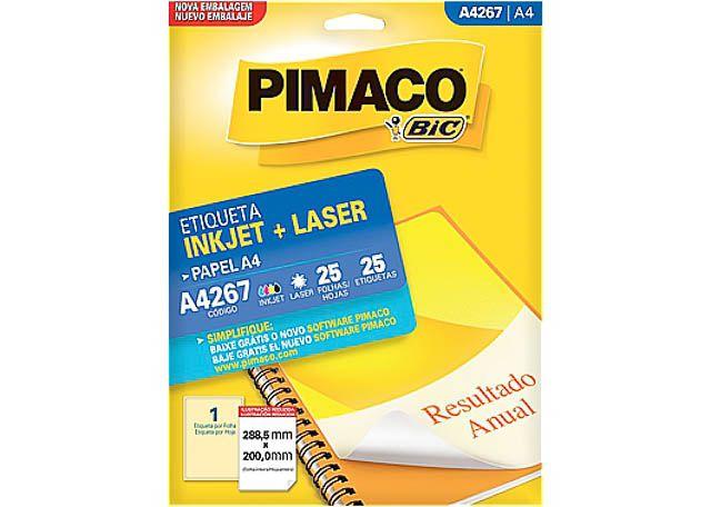 ETIQUETA PIMACO TAM A4 C/25 A4267